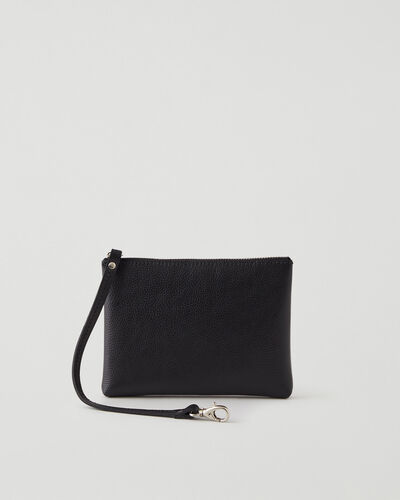Roots-Leather Leather Accessories-Small Wristlet Cervino-Black-A