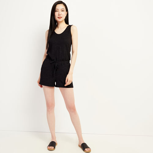 Roots-Women New Arrivals-Mira Romper-Black-A