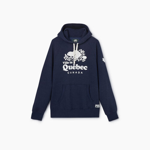 Roots-New For May City Collection-Quebec City Kanga Hoody - Mens-Blue Iris Pepper-A