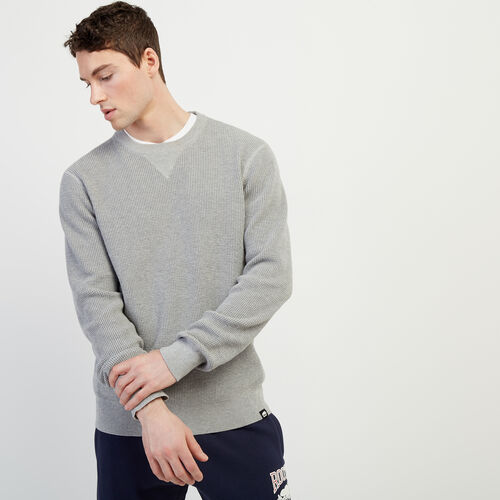Roots-Men New Arrivals-Journey Sweater Crew-Grey Mix-A