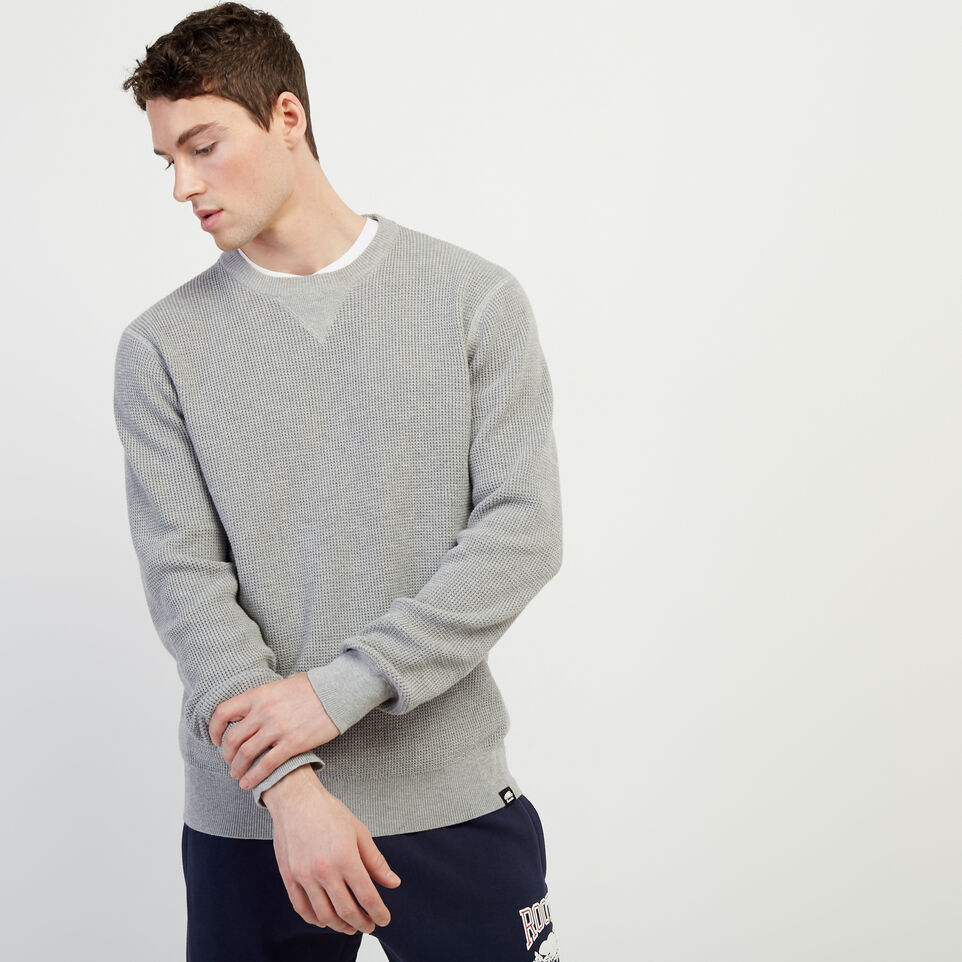 Roots-New For February Journey Collection-Journey Sweater Crew-Grey Mix-A