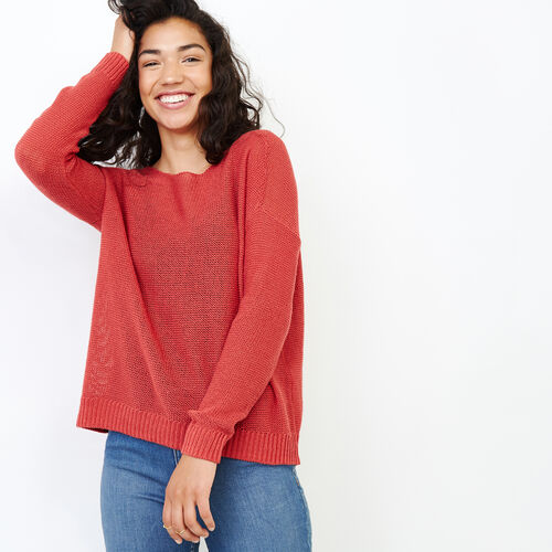 Roots-Women Tops-Hillsview Pullover Sweater-Baked Apple-A
