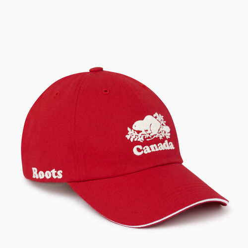 Roots-Men Accessories-Canada Baseball Cap-Red-A