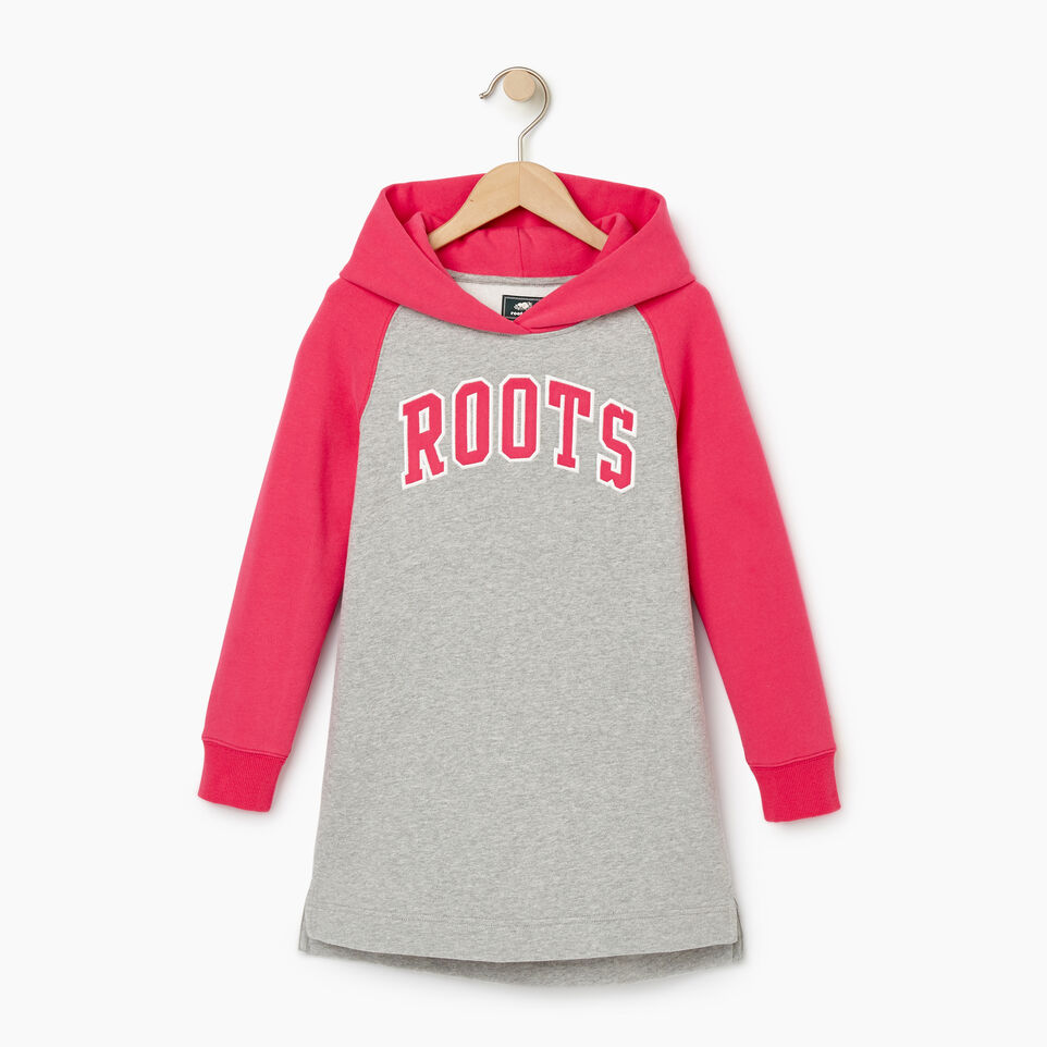 Roots-Clearance Kids-Girls 2.0 Hooded Dress-Grey Mix-B