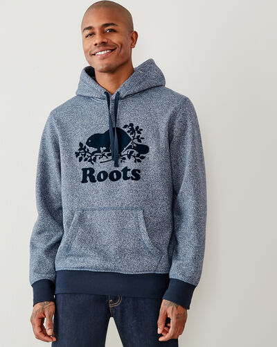 Roots-Men Sweatshirts & Hoodies-Contrast Cooper Kanga Hoody-Navy Blazer Pepper-A
