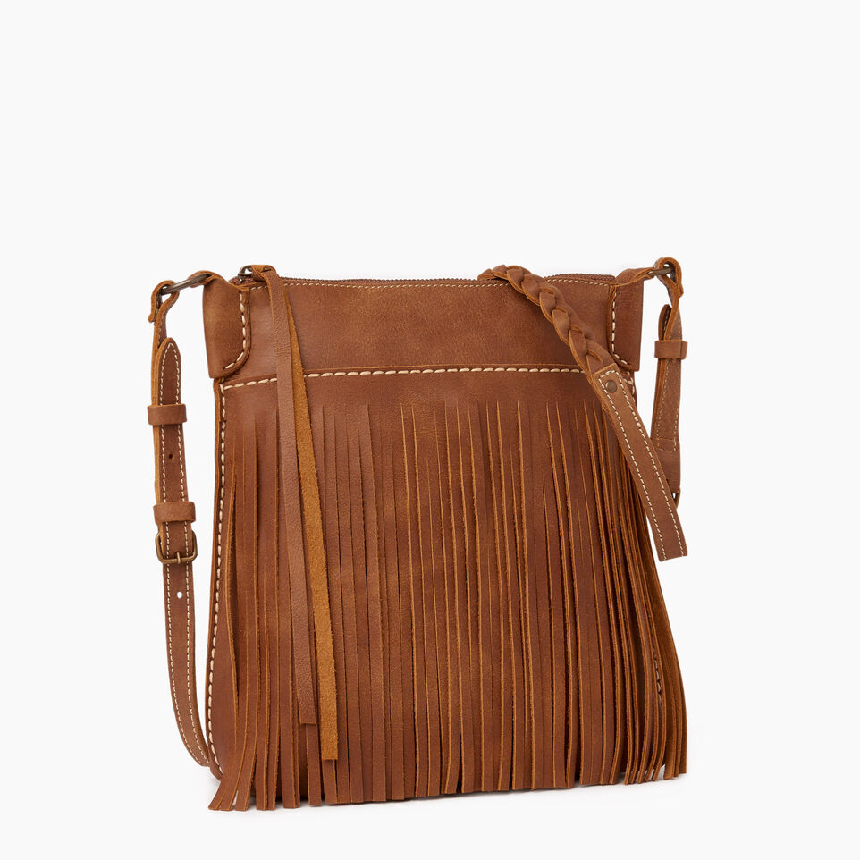 Roots-Leather  Handcrafted By Us Our Favourite New Arrivals-The Hippy Bag-Natural-A