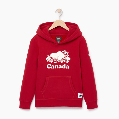 Roots-Kids Collections-Boys Canada Kanga Hoody-Sage Red-A