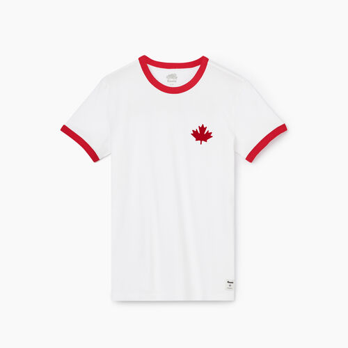 Roots-Women Graphic T-shirts-Womens Canada Ringer T-shirt-Crisp White-A