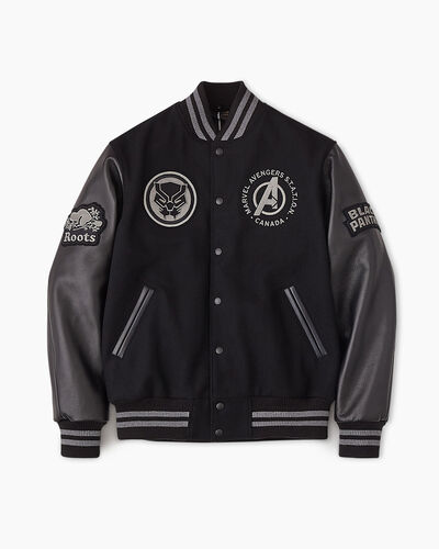 Roots-New For This Month Shop By Character-Avengers Black Panther Award Jacket-Black-A