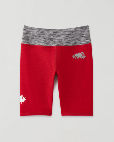 Roots-Sweats Girls-Girls Lola Active Bike Short-Sage Red-A