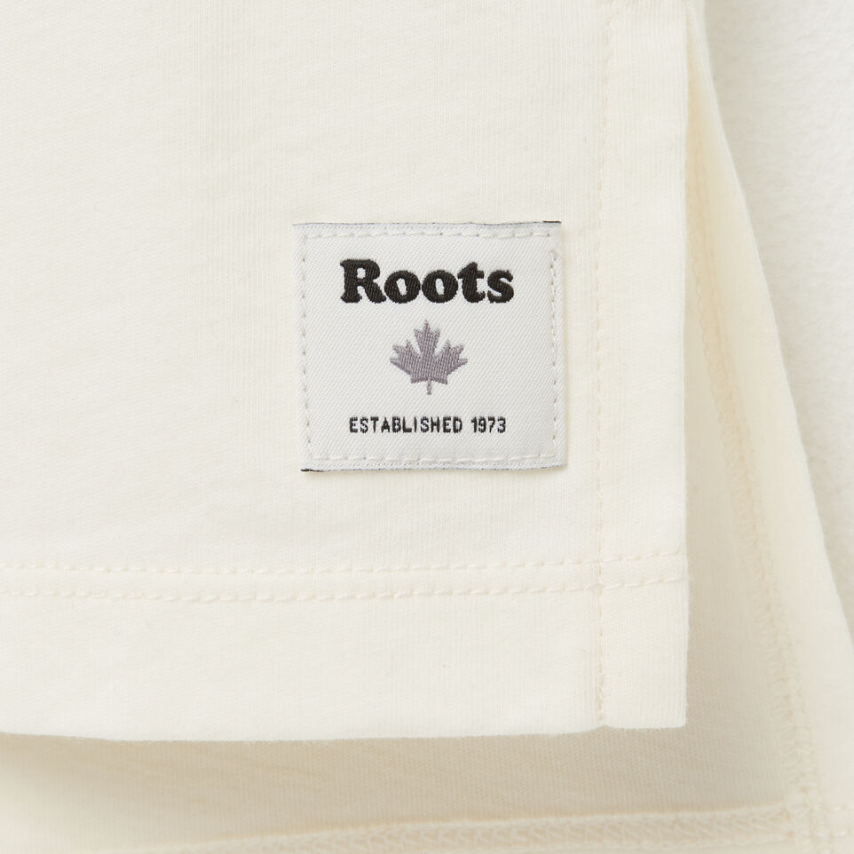 Roots-undefined-Girls Boxy Text T-shirt-undefined-C