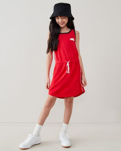 Roots-Kids Girls-Girls Remix Dress-Racing Red-A