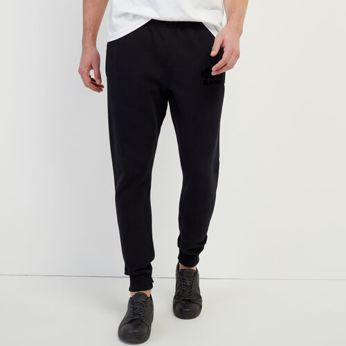 Roots-Men Slim Sweatpants-Tonal Park Slim Sweatpant-Black-A