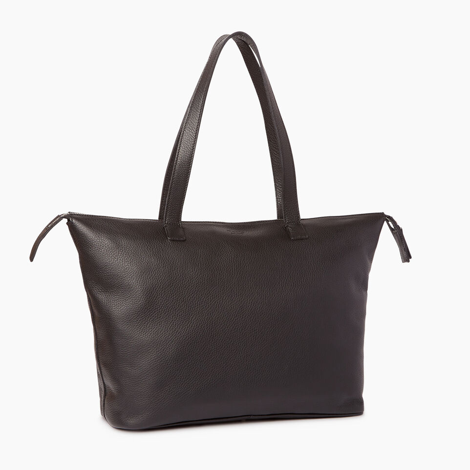 Roots-Leather Categories-Go To Bag-Black-C