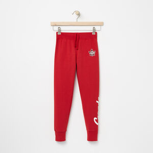 Roots-Kids Bottoms-Girls Heritage Canada Slim Bottom-Sage Red-A
