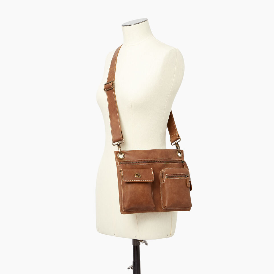 Roots-Leather Roots Original Flat Bags-Village Bag-Natural-B