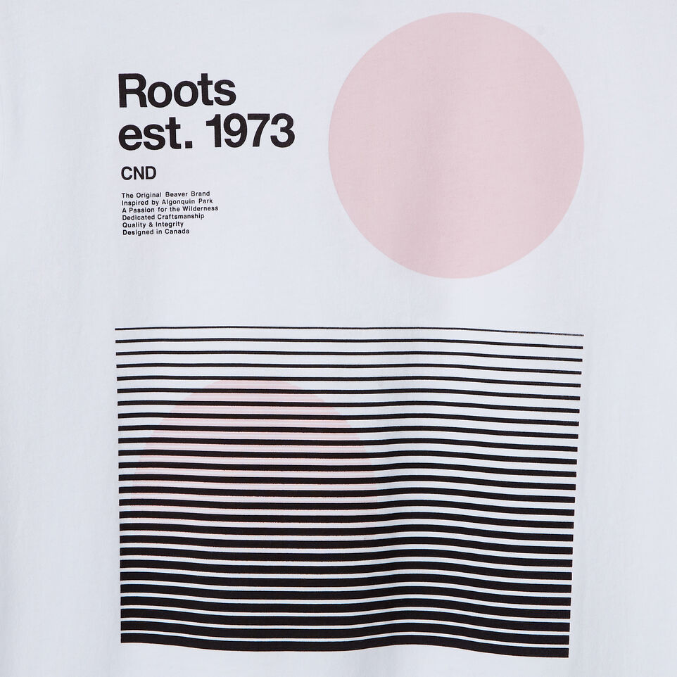 Roots-New For July Daily Offer-Womens Am/pm T-shirt-Crisp White-E