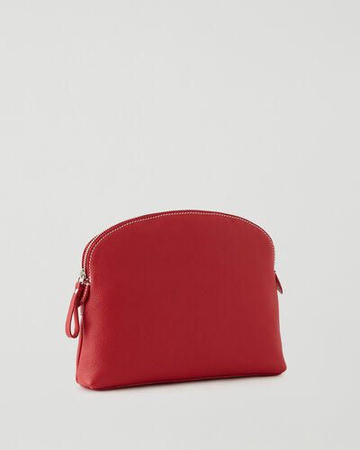 Roots-Leather New Arrivals-Large Euro Pouch Cervino-Lipstick Red-A