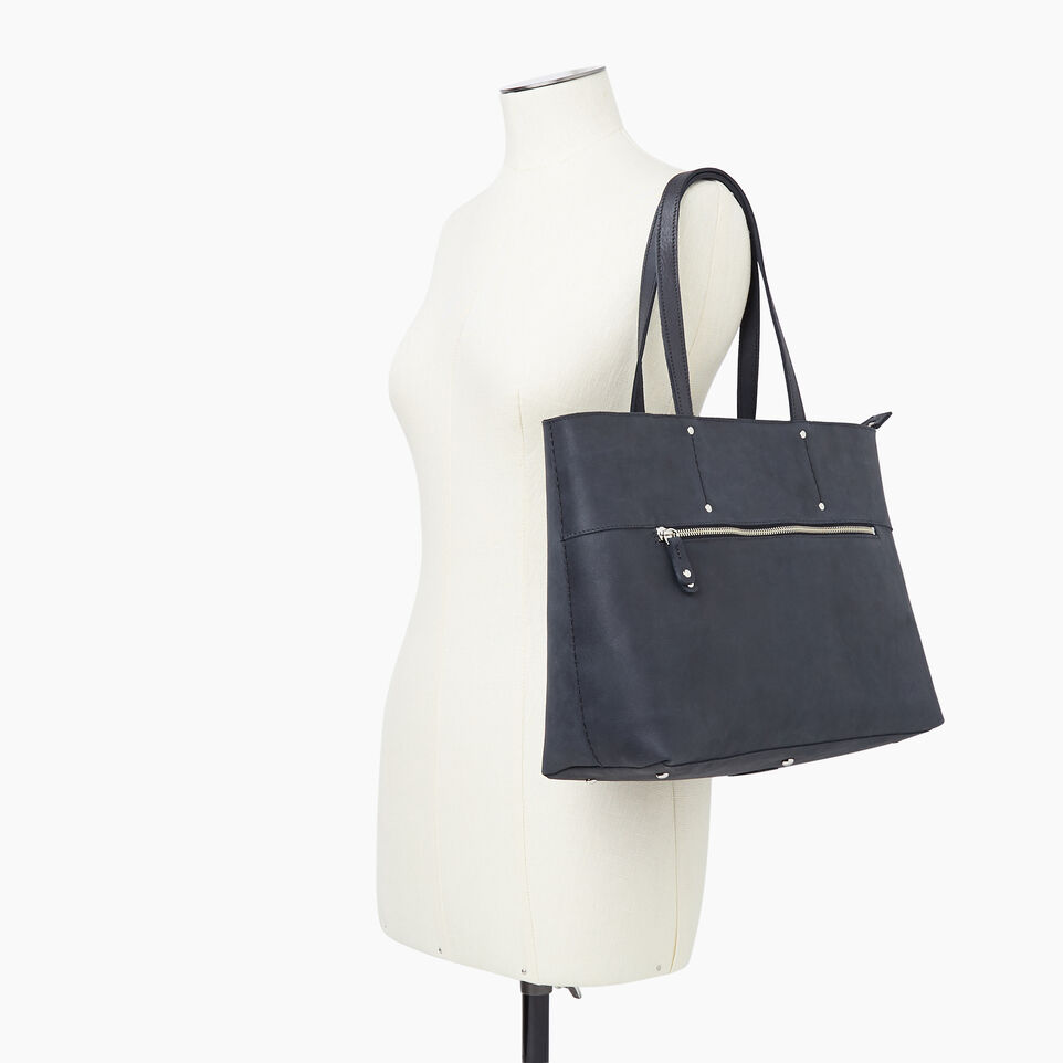 Roots-Leather New Arrivals-Westmount Tote Tribe-Jet Black-B