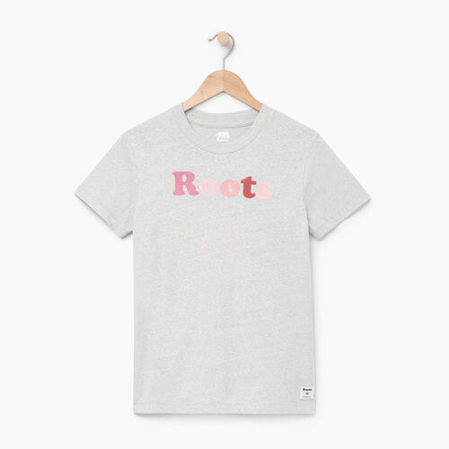 Roots-Women Graphic T-shirts-Womens Rainbow Roots T-shirt-Snowy Ice Mix-A