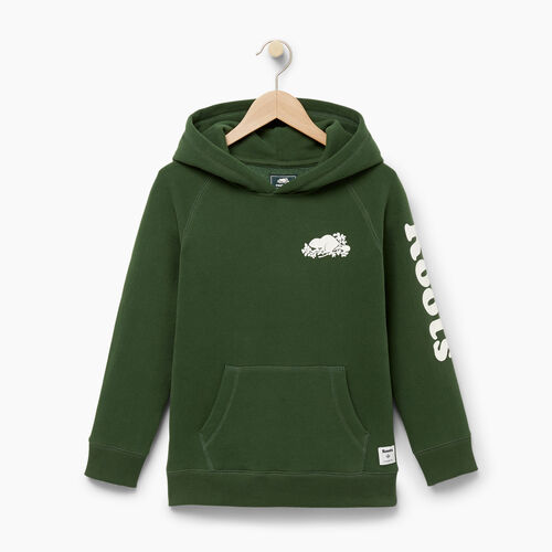 Roots-Winter Sale Boys-Boys Roots Remix Hoody-Camp Green-A