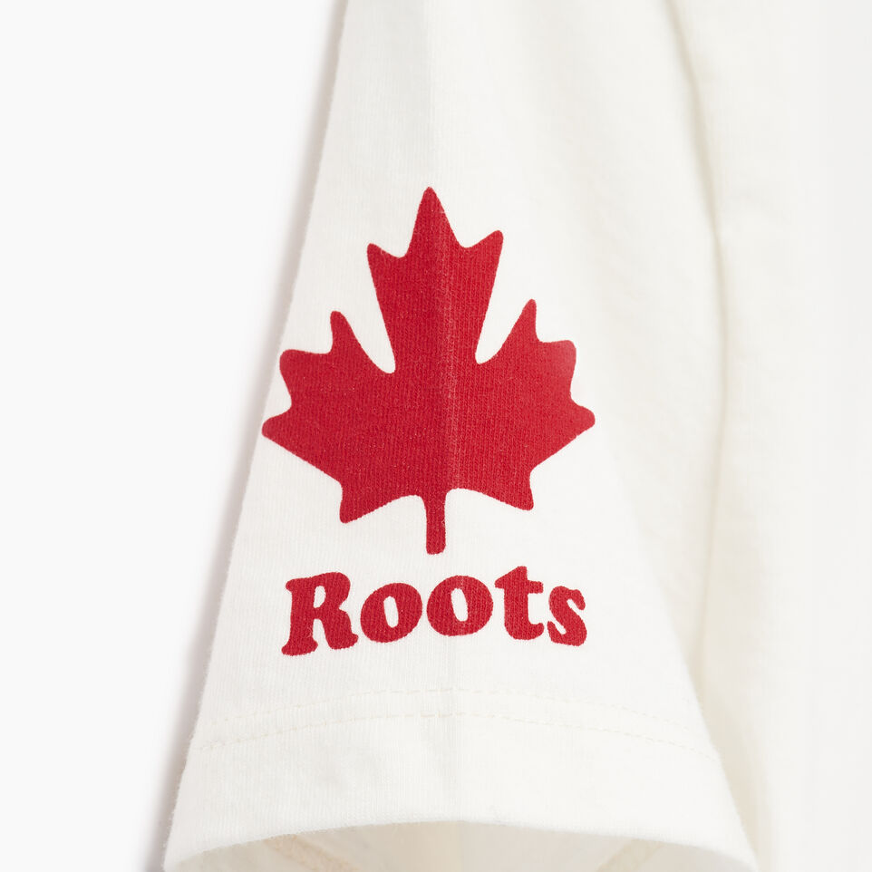 Roots-Women Graphic T-shirts-Womens Roots Canada T-shirt-Ivory-E