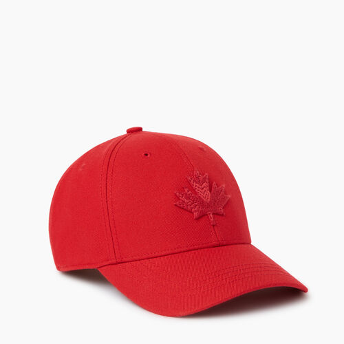 Roots-Men Accessories-Modern Leaf Baseball Cap-Red-A