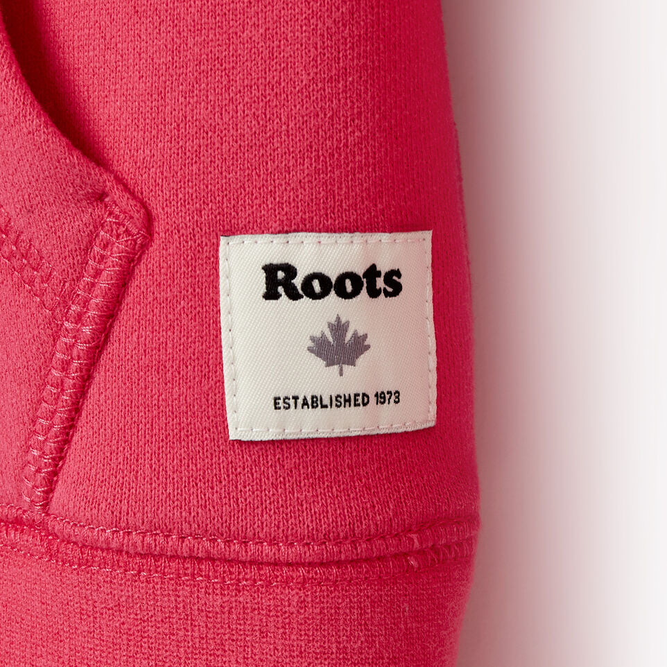 Roots-Clearance Kids-Girls Original Kanga Hoody-Pink Flambé-E