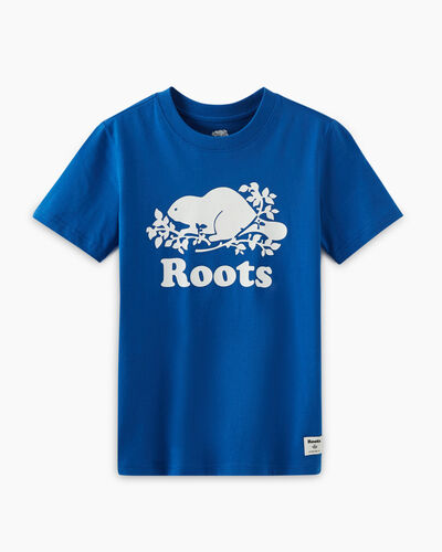 Roots-Kids T-shirts-Boys Original Cooper Beaver T-shirt-Classic Blue-A