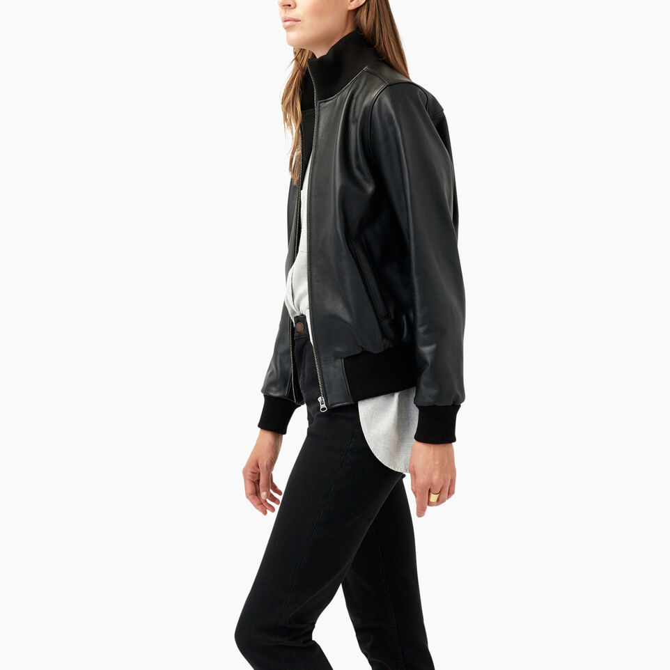Roots-undefined-Blouson Soho en cuir Lake-undefined-C