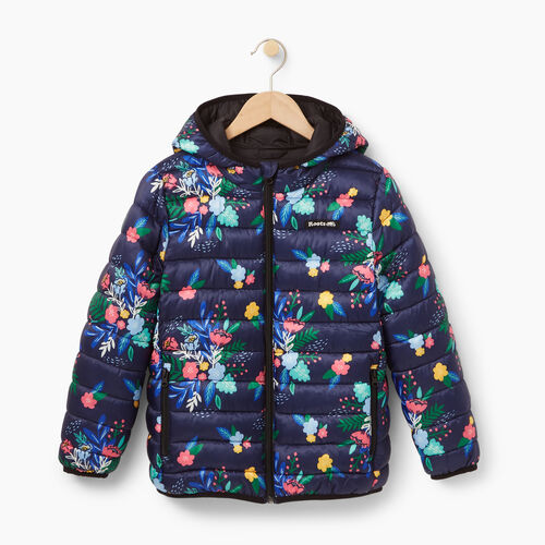 Roots-Winter Sale Kids-Girls Roots Puffer Jacket-Blue Depths-A
