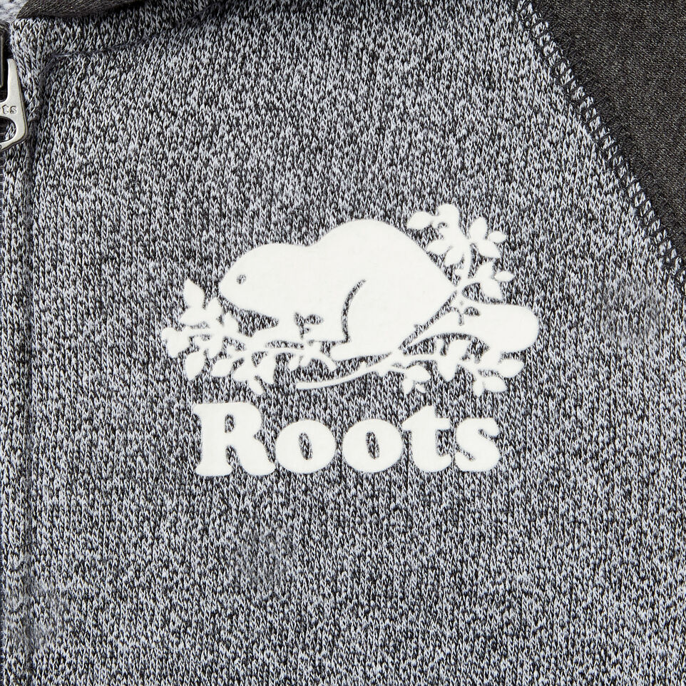 Roots-Clearance Kids-Boys Original Full Zip Hoody-Charcoal Mix-D