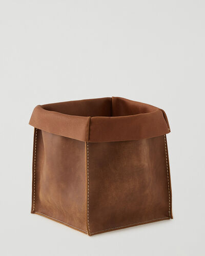 Roots-Leather Leather Accessories-Large Rollover Basket 2.0 Tribe-Natural-A