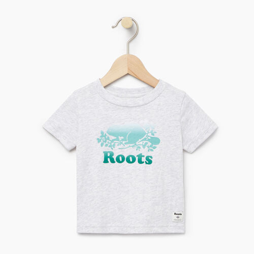 Roots-Clearance Baby-Baby Gradient Cooper T-shirt-White Mix-A