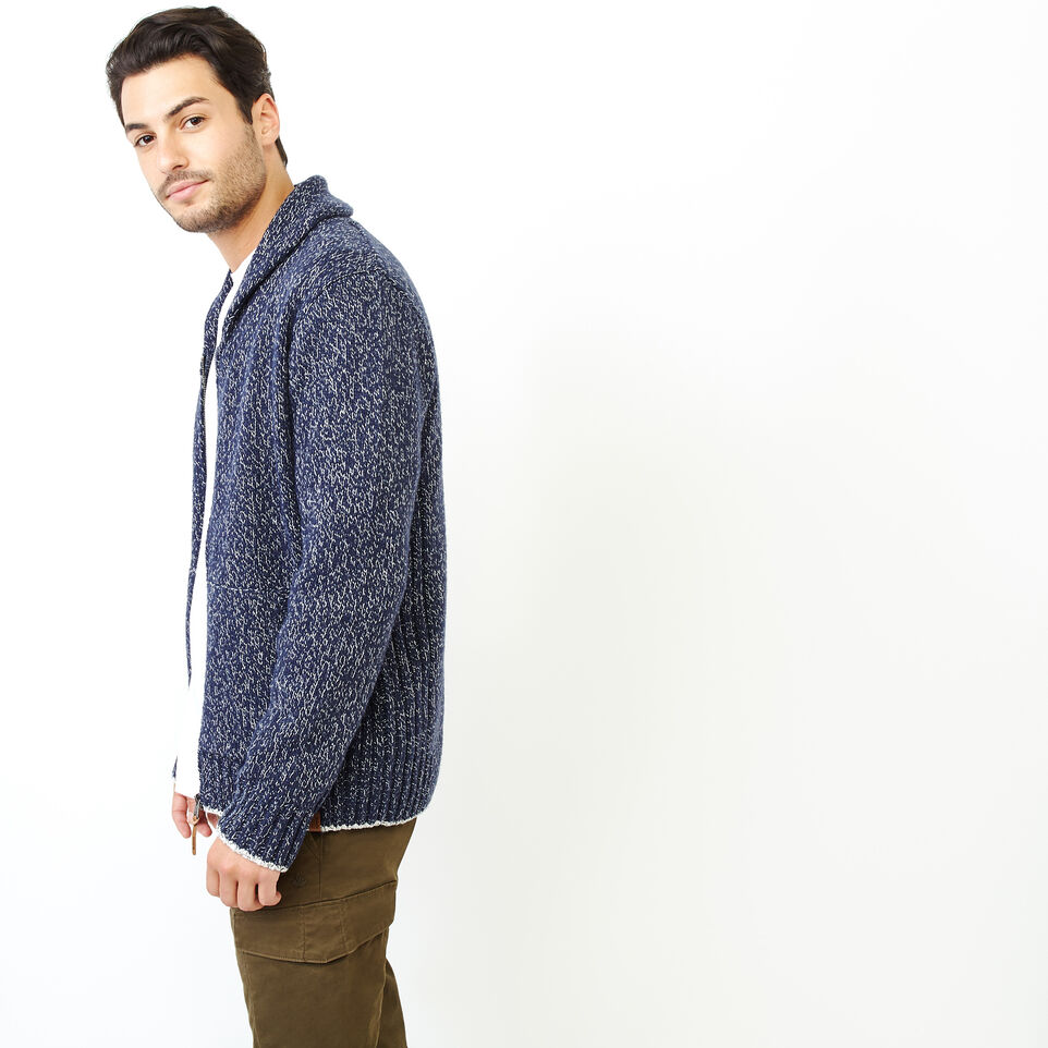 Roots-Men Our Favourite New Arrivals-Snowy Fox Zip Cardigan-Navy Fox-C