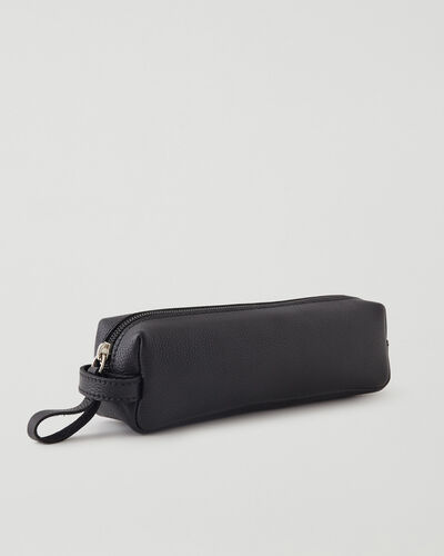 Roots-Leather Leather Accessories-Small Utility Pouch Cervino-Black-A