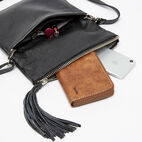 Roots-Leather  Handcrafted By Us Crossbody-Anna Clutch Prince-Black-E