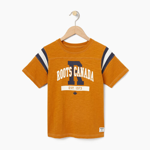 Roots-Winter Sale Kids-Boys Varsity Top-Lemieux Gold-A