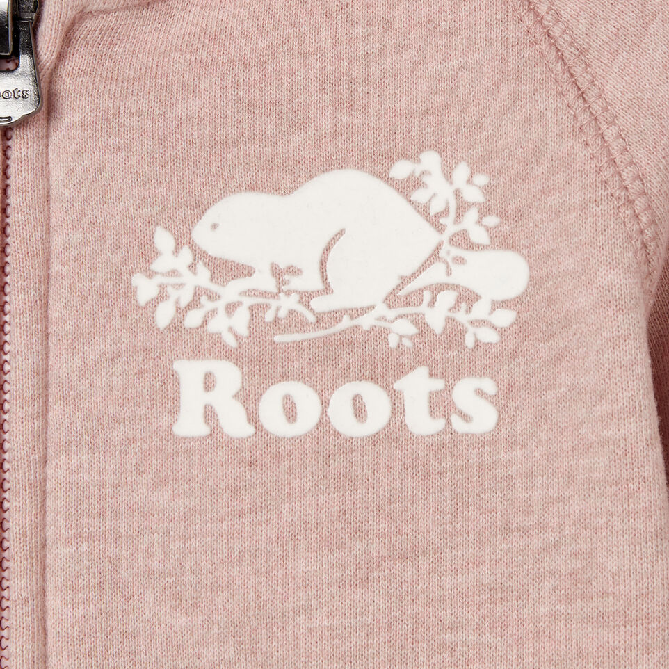 Roots-Kids Sweats-Toddler Original Full Zip Hoody-Deauville Mauve Mix-C