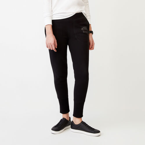 Roots-Women Bottoms-Roots Reflective Skinny Pant-Black-A