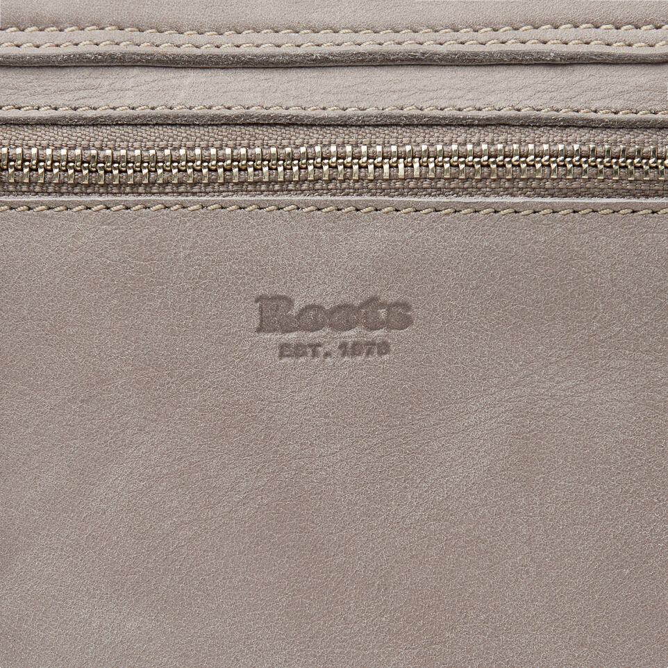 Roots-Leather New Arrivals-Canmore Crossbody Tribe-Sterling Grey-E