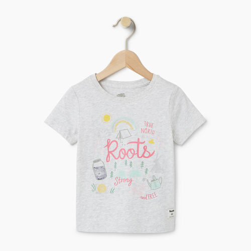 Roots-Kids Our Favourite New Arrivals-Toddler Glow-in-the-dark T-shirt-White Mix-A