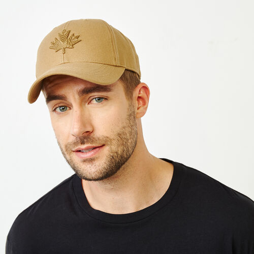Roots-Men Our Favourite New Arrivals-Modern Leaf Baseball Cap-Tan-A
