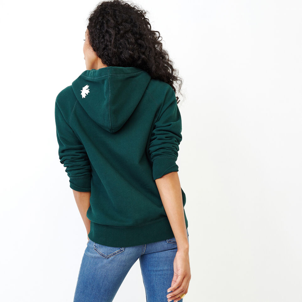Roots-Women Clothing-Original Full Zip Hoody-Varsity Green-D