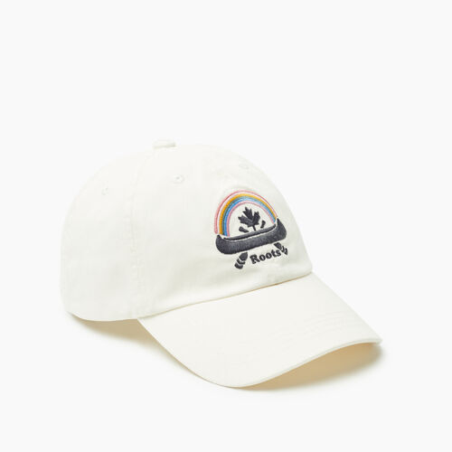 Roots-Women New Arrivals-Roots Canoe Leaf Baseball Cap-Egret-A