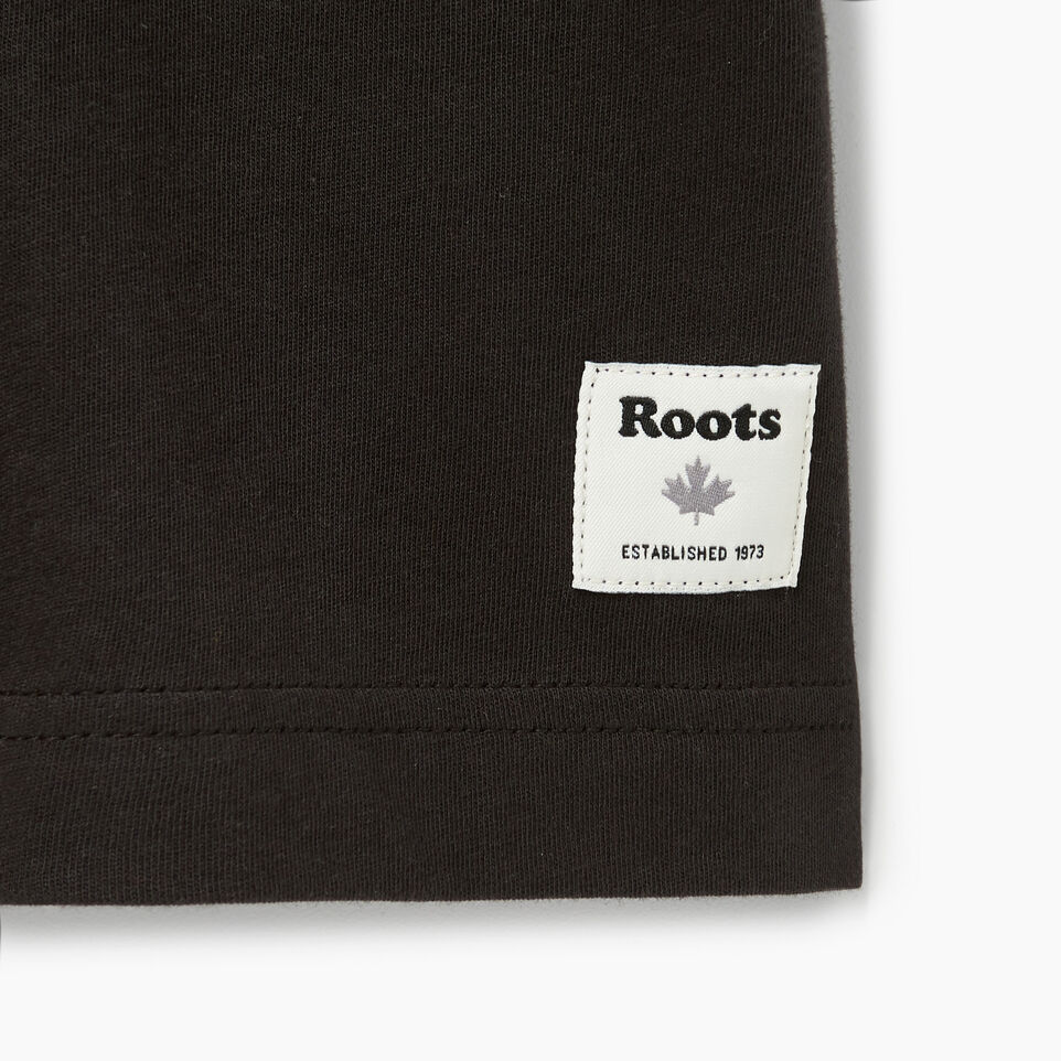 Roots-Men Our Favourite New Arrivals-Mens Brushed Arch T-shirt-Black-C