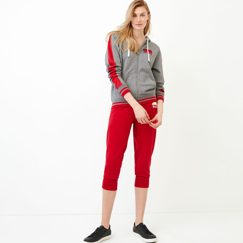 Roots-Women Our Favourite New Arrivals-Canada Full Zip Hoody-Grey Mix Pepper-B