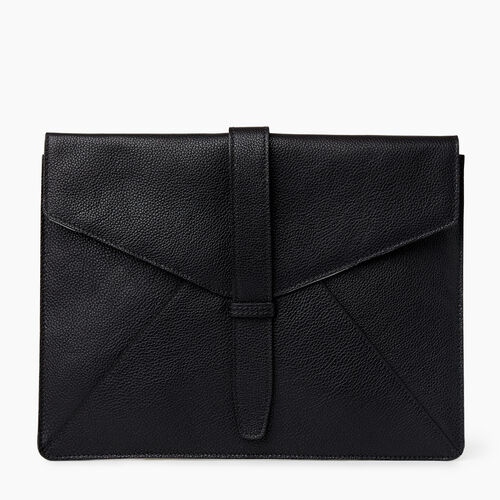 Roots-Leather Leather Accessories-Document Sleeve Cervino-Black-A