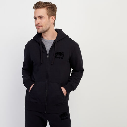 Roots-Men Our Favourite New Arrivals-Tonal Cooper Beaver Zip Hoody-Black-A