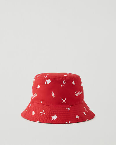 Roots-Kids New Arrivals-Kids Reversible Bucket Hat-Sage Red-A